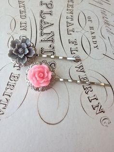 Rose Filigree Barrettes by ALittleBitPrettyShop