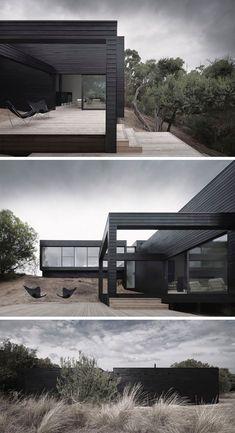 14 ejemplos de casas modernas con exteriores negros - Arquitectura Ideal #fachadasdecasasmediterraneas