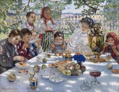 The Glory of Russian Painting: Nikolay Bogdanov-Belsky,  The Teacher's Name-Day