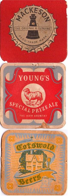 Vintage Beer Mat collection, Yorkshire finest #cotswold
