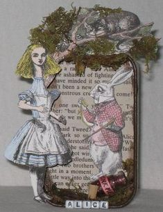 Alice in Wonderland Altoid's Tin by chaoticartworks - another of my creations. #Wonderland #Altoid #recycle