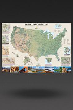 Kids Beginners USA Education Grades K Wall Map Laminated Be - United states wall map laminated