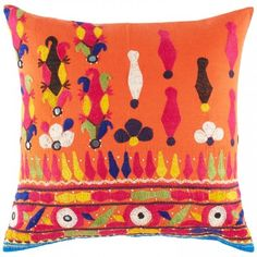 Vintage Phulkari Pillow 743