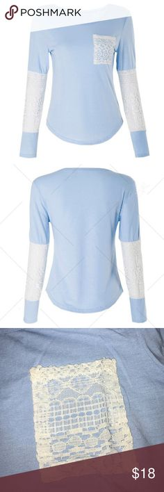 Women's long sleeve tshirt New with tags, stretchy material, lace pocket and arms Tops