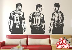 Luis Suarez Lionel Messi Neymar da Silva FC Barcelona Wall Decal Sticker 0001s by FunDecalFactory on Etsy