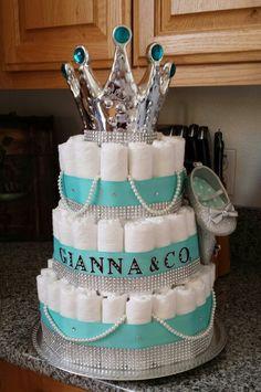 Tiffany & Co. Theme diaper cake