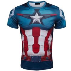 Marvel Super Heroes top short sleeve fashion men fitness t shirt round neck #Unbranded #GraphicTee