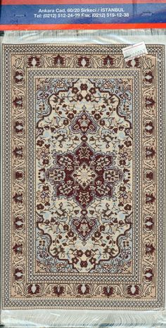 For your consideration is new old stock of a Turkish Woven Miniature Carpet. The carpet is made of a thin woven material with a beautiful floral motif and white fringe. Min... #vintage #gift #collectibles #doily #doilie