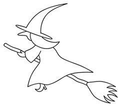 how to draw a cartoon halloween witch hat easy doodle for girls