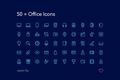 Office Icons by rodchenko design on @creativemarket