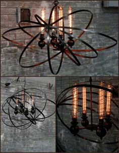 Steampunk chandelier by Chantelle Lighting