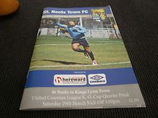 St Neots Town v Kings Lynn Town 2010/11 League cup