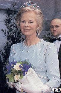 The Aquamarine Tiara ~ The Duchess of Kent wearing the Aquamarine Tiara