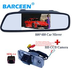 "170 degree car rear view camera and 4.3"" car mirror kit suitable for  Hyundai new Santafe Santa Fe Azera newest arrival product."