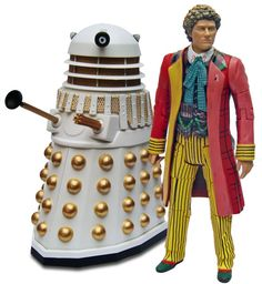 The Sixth Doctor and Dalek from REVELATION OF THE DALEKS.
