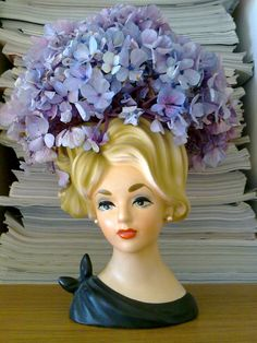 Lady head, my mom had a set of the beautiful head vase