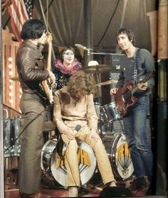 The Who during the filming of the Rolling Stones Rock & Roll Circus - December 11,1968