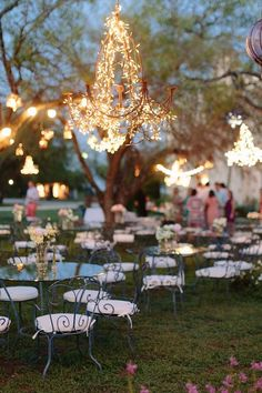 Such a pretty idea for lighting your wedding!