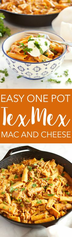 This Easy One Pot Tex Mex Mac and Cheese is the perfect easy, cheesy weeknight family meal that's ready in under 30 minutes! Recipe from thebusybaker.ca!