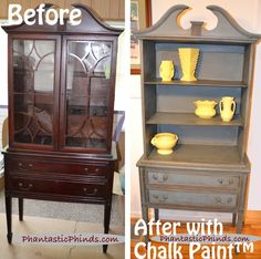 Remove hutch doors? (Phantastic Phinds: Annie Sloan Chalk Paint™: Step-by-Step DIY Painted Hutch)