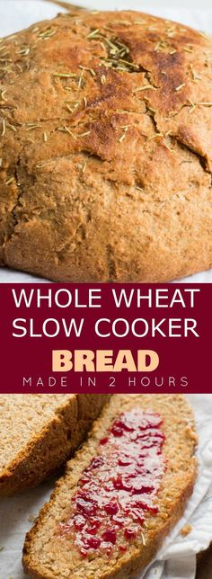Lower Excess Fat Rooster Recipes That Basically Prime Homemade Whole Wheat Slow Cooker Bread Recipe That's So Easy To Make This Simple Recipe Is Made In The Crock Pot And Uses Honey Instead Of Sugar. This Bread Is Healthy And Great For Clean Eating Use It Crock Pot Bread, Slow Cooker Bread, Slow Cooker Recipes, Crockpot Recipes, Casserole Recipes, Slow Cooking, Chipotle, Healthy Bread Recipes, Healthy Homemade Bread