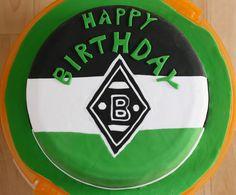 Borussia Mönchengladbach Fondant-Torte Mamas And Papas, Man Humor, Happy Day, Happy Birthday, Party, Kind, Football Cakes, Fondant Cakes, Bakken