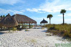 Tiki Hut - Rum Runners  #Sunny #Fun #Florida #Beach #StPeteBeach #StPete #PalmTrees #TikiHut #Shade #Sand #BeachBar