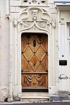 Montmartre, Paris. old wooden door