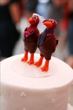 Hokie Wedding Cake Toppers!!