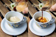 Domáca vanilková zmrzlina a talianske affogato