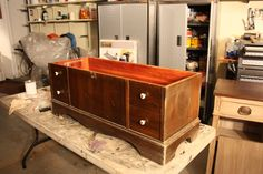 I wish I could take better pictures. Here's a Lane Cedar Chest I just finished. I followed a Hometalkers advice