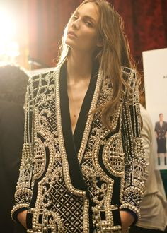 girlannachronism:  Balmain fall 2012 rtw backstage
