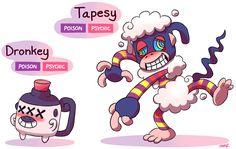FAKEMON: Dronkey, Tapesy by Master-Rainbow on DeviantArt