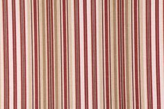 8 Yards Stripe Printed Cotton Drapery Fabric in Lacquer