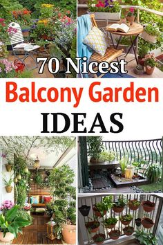 Looking forward to decorating your balcony with plants? Here are some great Balcony Garden Ideas that'll make it appear like a mini garden! Modern Garden Design, Flower Garden Design, Modern Design, Garden Landscaping, Modern Landscaping, Garden Ideas, Garden Inspiration, Design Inspiration, Bedding Inspiration