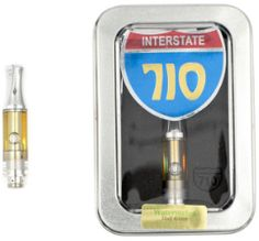 Watermelon Cartridge .5g  CONCENTRATE   INTERSTATE CANNABINOIDS 710 .5G $25 .00 1G $50 .00 The same cleanly processed solventless oil, mixed with delicious Watermelon flavoring that will fill your room with a sweet fruity scent. Our pharmaceutical grade FDA approved solventless process yields the highest grade THC on the market, testing at 85.99%.