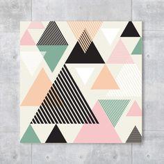 Placa decorativa - Pastels Triangles