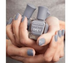Dear friends and longtime collaborators, Deborah Lippmann and Jason Wu have joined forces to create Grey Day, a limited-edition nail polish inspired by Jason Wu's ready-to-wear collection, GREY Jason Wu. A sister brand to his namesake label, GREY Jason Wu Simple Nail Art Designs, Best Nail Art Designs, Easy Nail Art, Acrylic Nail Designs, Cool Nail Art, Acrylic Nails, Grey Gel Nails, Jason Wu, Professional Nails