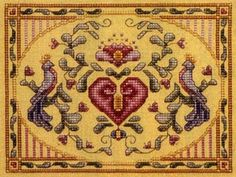 Web page devoted to the work of artist Teresa Wentzler, who creates fantasy-inspired counted cross stitch designs, and intricate pen and ink drawings. Cross Stitch Embroidery, Embroidery Patterns, Hand Embroidery, Cross Stitch Designs, Cross Stitch Patterns, Pennsylvania Dutch, All Craft, Crossstitch, Have Time