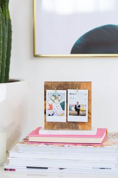 A DIY Flip Photo Album for your Desktop! by lifestyle blogger Ashley Rose of Sugar & Cloth - Houston