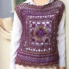 croche: square motif vest