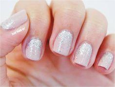Just a little bit of sparkle! Sparkle Nails, Pink Nails, Gel Nails, Nail Polish, Just A Little, Nail Ideas, Nail Art, Beauty, Beautiful