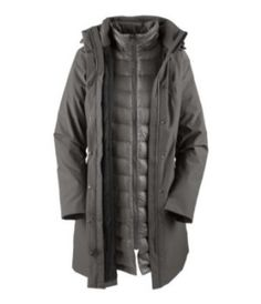 The North Face Suzanne Triclimate Down Trench Coat - Women's Graphite Grey, L by The North Face. $470.00. New this season, The North Face Women's Suzanne Triclimate Trench Coat offers the warmth and style of a long down jacket with the protection of a matching rain shell. A waterproof, breathable, seam sealed shell jacket keeps the rain out while an inner down jacket liner is stuffed with 550 fill down for high quality warmth. The hood is reversible to match both jackets a...