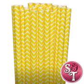 Chevron Paper Straws: Yellow