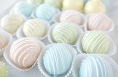 Pastel chocolates.