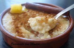 Cocinando con Montse: ARROZ CON LECHE, EL DE SIEMPRE
