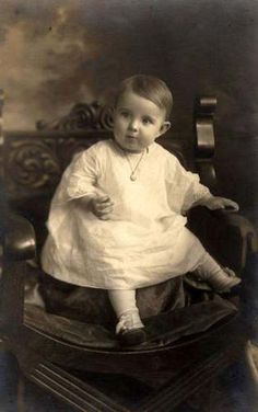 +~+~ Antique Photograph ~+~+  Darling baby with a locket.