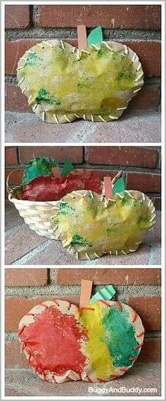 Stuffed Paper Apple Craft (from Buggy and Buddy)