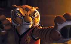 Tigress in Kung Fu Panda (2008) uses the Tiger Claw Kung Fu System to fight