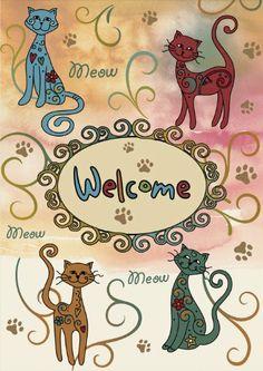 Toland Home Garden 112622 Meow Welcome Decorative Garden Flag, 12.5 by 18-Inch by Toland Home Garden, http://www.amazon.com/dp/B00B2JA9R2/ref=cm_sw_r_pi_dp_yUNurb04Q51Z7